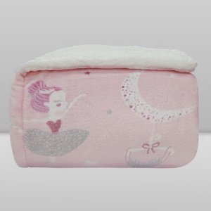 Cobertor Kids 1,27x1,52 Sherpam - Bailarina Rosa