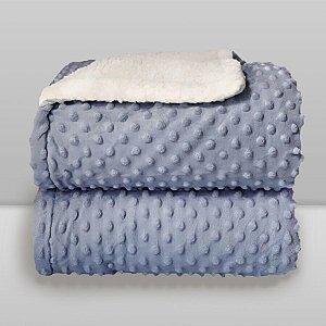 Cobertor Infantil 0,90X1,10 Sherpa Dots Azul