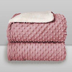 Cobertor Infantil 0,90X1,10 Sherpa Dots Rosa