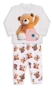 Pijama Microsoft Sublimado Ursas Polaroid Dedeka