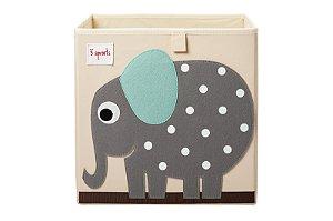 Cesto Organizador Quadrado Elefante - 3 Sprouts