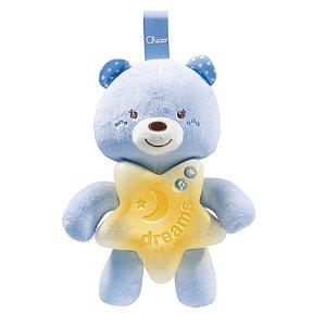 Painel Ursinho Bons Sonhos com Música e Luz Azul Chicco