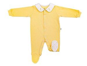 Macacao Luxo Menino Amarelo D`bella for Baby
