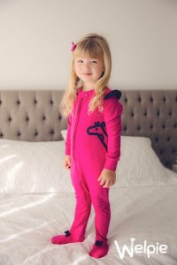 Macacão Pink Gigi Lateral Marinho Welpie