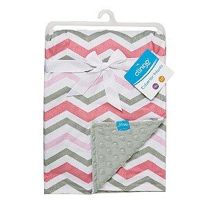 Cobertor Infantil Onda Rosa - Clingo