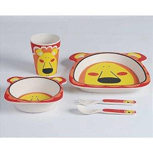 Kit Alimentação Leão 5 Pcs Eco Zoo - Girotondo Baby