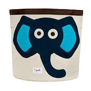 Cesto Organizador Redondo Elefante Azul - 3 Sprouts