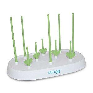 Escorredor Verde para 10 Mamadeiras - Clingo