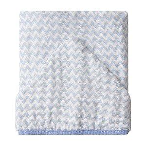 Toalhão de Banho Soft Premium c/ Capuz 1,05x85cm Papi Chevron Azul