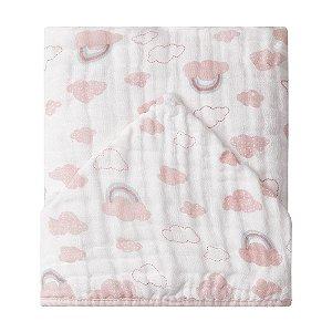 Toalhão de Banho Soft Premium c/ Capuz 1,05mx85cm Papi Arco-íris