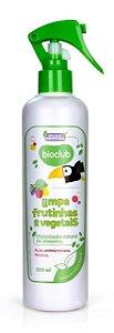 Limpa Frutinhas e Vegetais 300ml Higienizador natural - Bioclub