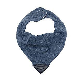 Babador Bandana com Mordedor Jeans Azul - Clingo