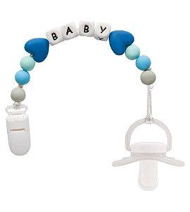 Prendedor de Chupeta Baby - Azul Buba