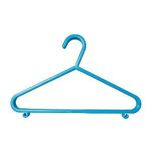 Cabide Plástico Infantil 6pçs - Clingo Azul Claro