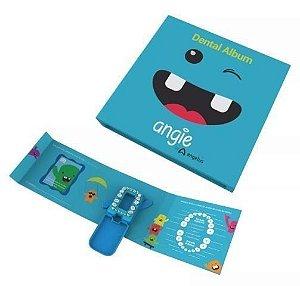 Álbum Dental - Angie Dentes de Leite Azul