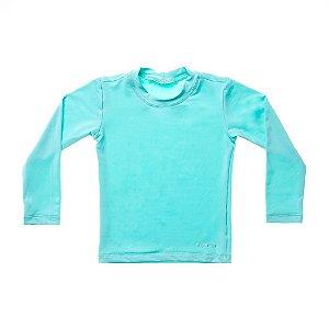Camisa de Banho Manga Longa Azul Claro - BupBaby