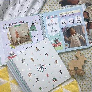 Álbum do Bebê Bichinhos Cinza - Coloré