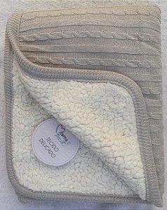 Cobertor Fofinho Mami Tricot 1,10x75cm Cinza