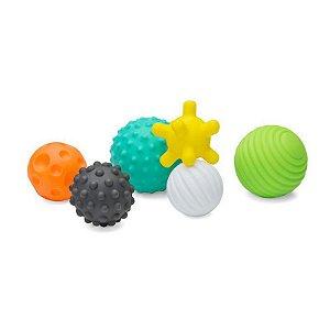 Brinquedo Interativo Bola de Silicone Texturizada Infantino