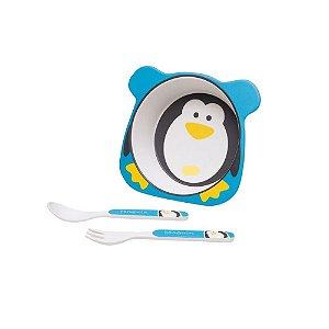 Kit Alimentação Pinguim Eco 3pçs Girotondo