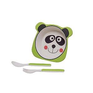 Kit Alimentação Panda Eco 3pçs Girotondo