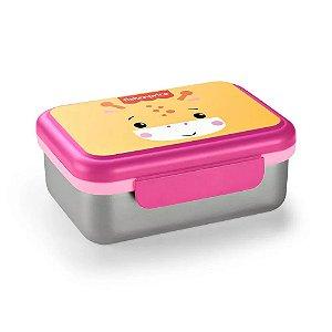 Pote Bento Box Aço Inox Hot e Cold Rosa Shock Fisher Price