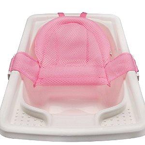 Rede para Banheira Premium Rosa Baby Pil