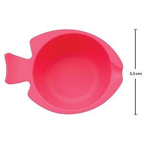 Bowl de Silicone com Ventosa Rosa Buba