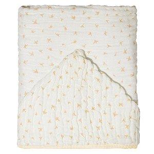 Toalha de Banho Soft c/ Capuz 115x85 Mami Silhueta Pássaros