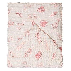 Toalha de Banho Soft c/ Capuz 115x85 Mami Folhagem Rosa