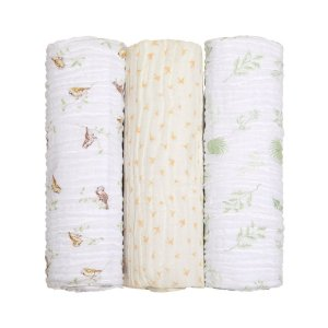 Cueiro Swaddle Soft Bamboo 120x120cm Mami 3 peças Neutro