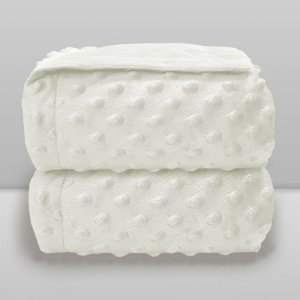 Cobertor Infantil 0,90X1,10 Dots Liso Branco