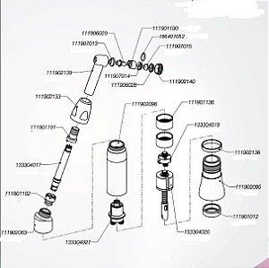 Desenho explodido para orientação - FXM 160 PB