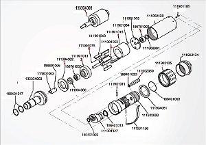 Desenho explodido Micro Motor Mi 01 - Dentflex