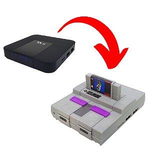 Case ABS Premium Modelo Super Nintendo + Cartucho Super Mario Para TX9 e TX3 mini