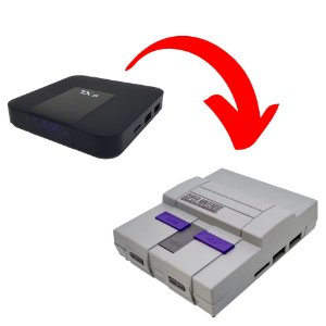 Case Plástico Modelo Super Nintendo Para TX9 e TX3 mini