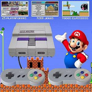 Super Nintendo - Video Game Retro Com Muitos Jogos Antigos