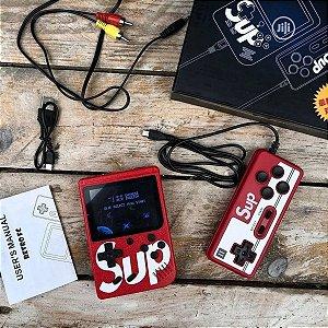 Mini Game Sup 2 Players Portátil Retro 8bits com 400 jogos