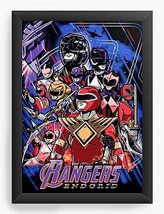 Quadro Decorativo A4 (33X24) Geekz Power Rangers - Loja Nerd e Geek - Presentes Criativos