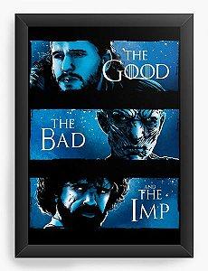 Quadro Decorativo A4 (33X24) Geekz Game of Thrones The good - Loja Nerd e Geek - Presentes Criativos