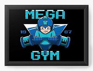 Quadro Decorativo A4 (33X24) Geekz Mega Man GYM - Loja Nerd e Geek - Presentes Criativos
