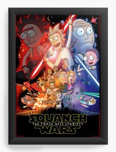 Quadro Decorativo A4 (33X24) Geekz Rick e Morty - Loja Nerd e Geek - Presentes Criativos