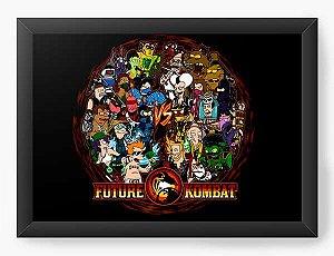 Quadro Decorativo A4 (33X24) Geekz Mortal Kombat - Loja Nerd e Geek - Presentes Criativos