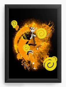 Quadro Decorativo A4 (33X24) Geekz Super Dragon Z - Loja Nerd e Geek - Presentes Criativos