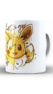 Caneca Geekz Pikachu Lets Go - Loja Nerd e Geek - Presentes Criativos