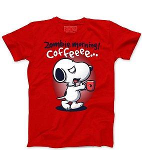 Camiseta Masculina Snoopy Coffe - Loja Nerd e Geek - Presentes Criativos