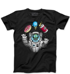 Camiseta Masculina Homer Simpsons Space - Loja Nerd e Geek - Presentes Criativos