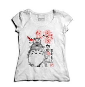 Camiseta Feminina Meu amigo Totoro - Loja Nerd e Geek - Presentes Criativos