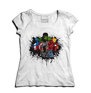 Camiseta Feminina Vingadores Filme - Loja Nerd e Geek - Presentes Criativos