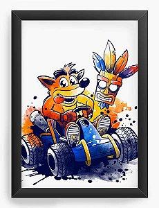 Quadro Decorativo A4 (33X24) Geekz Crash - Loja Nerd e Geek - Presentes Criativos